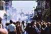 4*Sat, May 15, 1971 People: 2 groups of protesters Subject: tear gas Place: Telegraph Ave / Channing, Berkeley Activity: protest Comments: